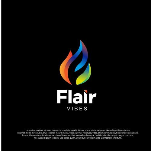 logo concept for flair vibes