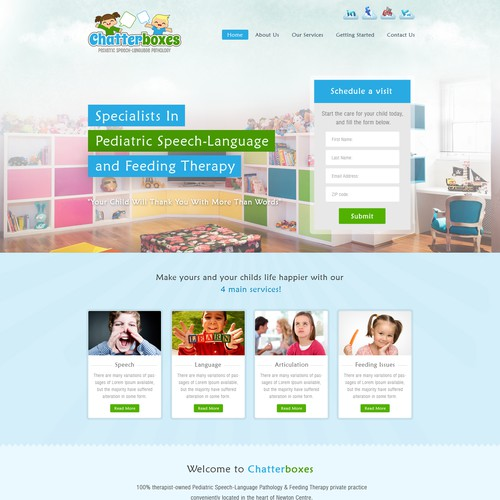 Chatterboxes seeks Fresh, Classy & Visual Website Illustrating how we help Kids!