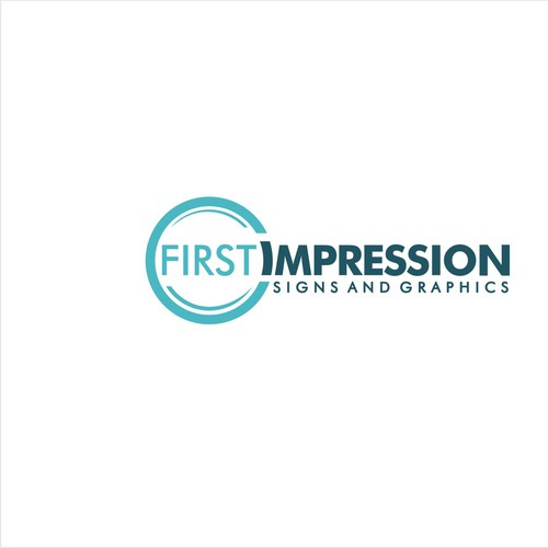 Clear concept logo for FIRST IMPRESSION Signs And Grapics
