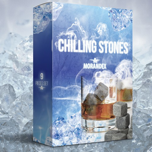 Who can create cold wintery icey illustation for a gift set of 9 chilling rocks for Amazon.com