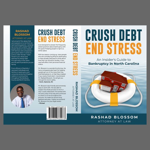 Bankruptcy book cover to appeal to homeowner's in financial distress