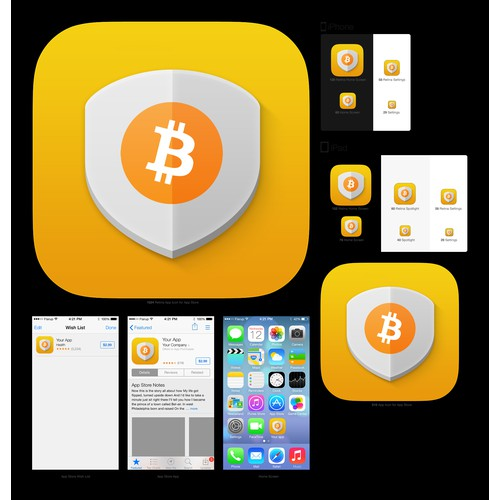 Create Mobile App Icon for Coinbolt Bitcoin Security Software