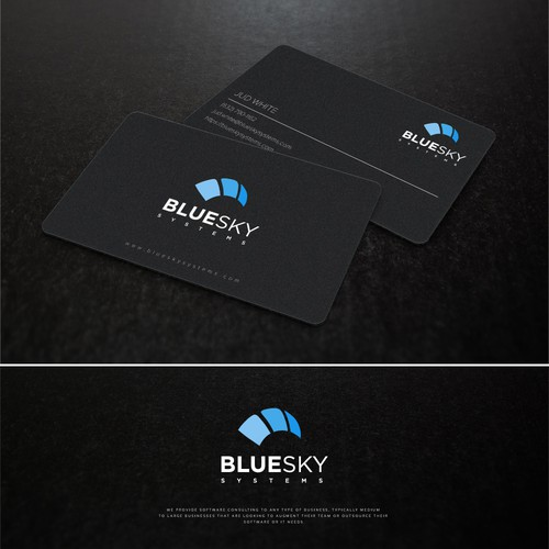 Design a logo/business card for skydiving software