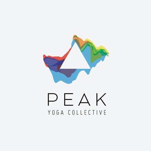 Create a subtly symbolic logo for yoga in the business world