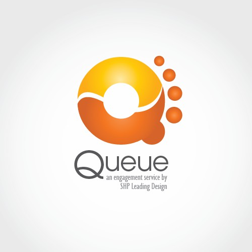 logo for Queue,  an engagement service by SHP Leading Design