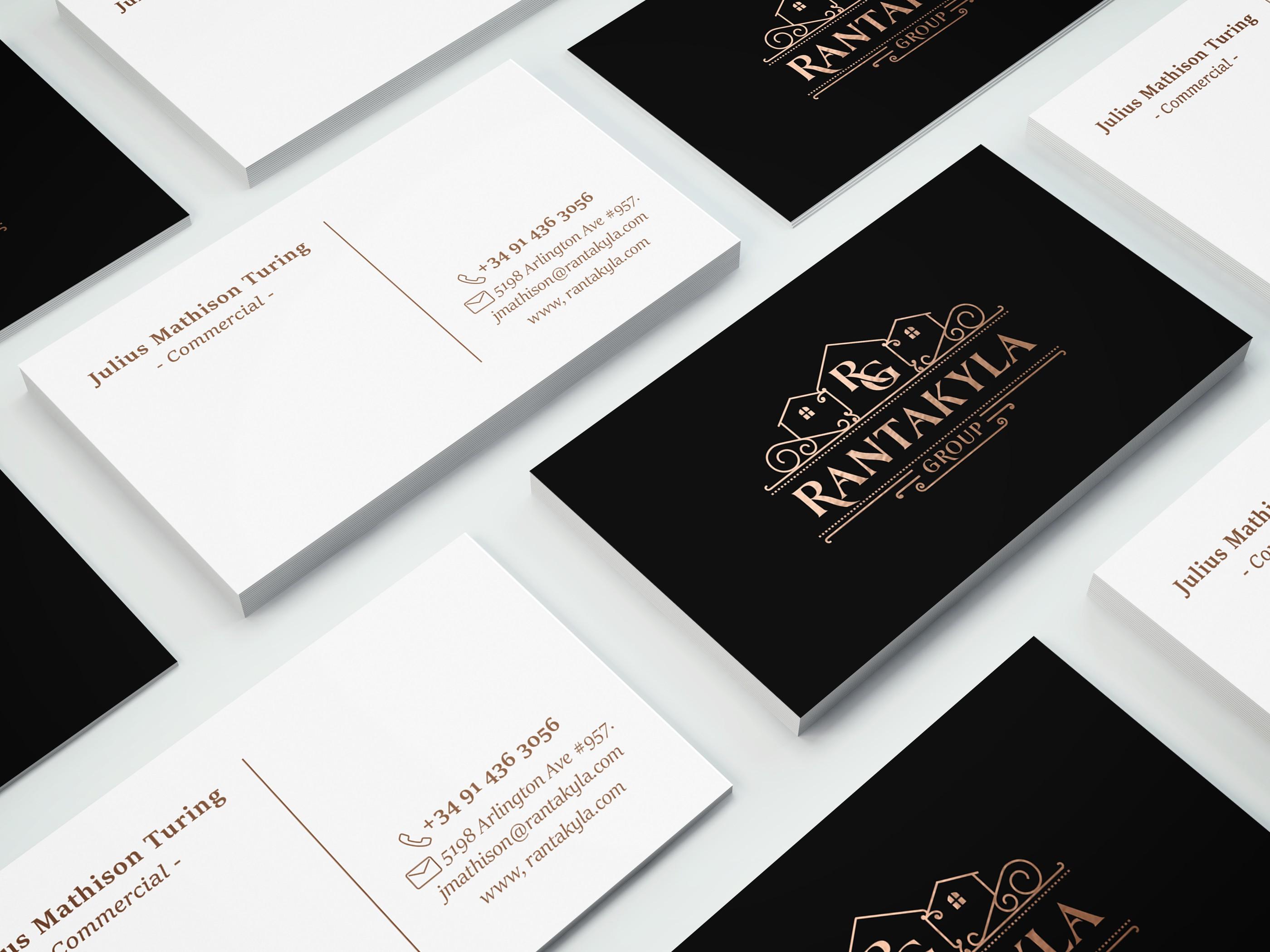 Diseña un logo y tarjeta tipo vintage para Rantakyla Group