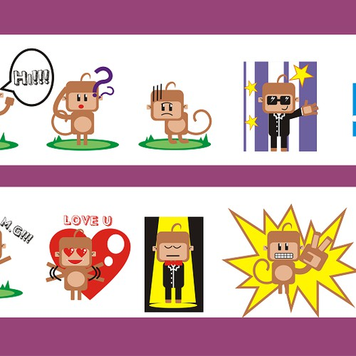 Create FUNNY Character Stickers for Dingaling: a free calling/messaging app