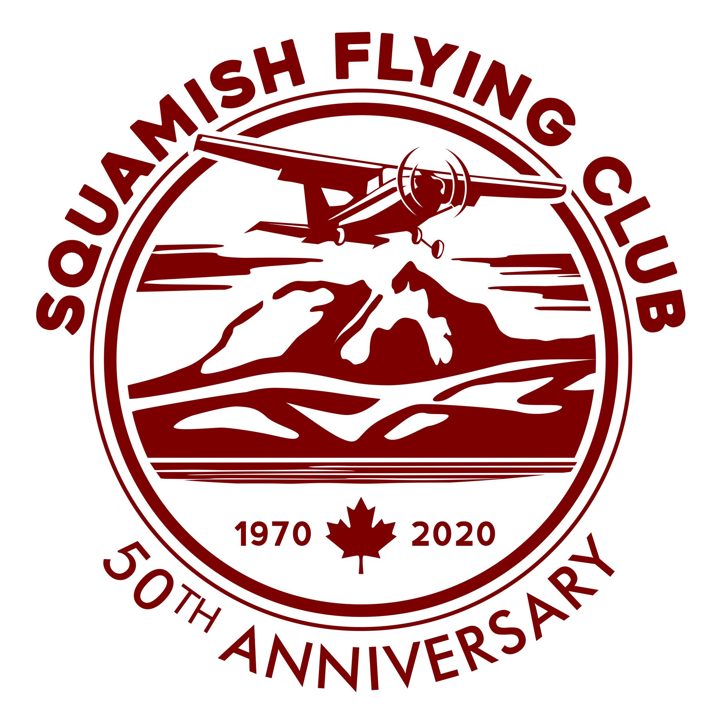 Squamish Flying Club logo & 50th anniversary