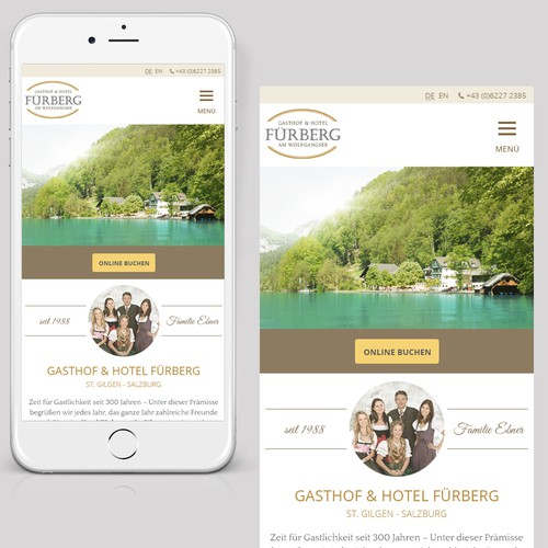 Responsive website for a Hotel