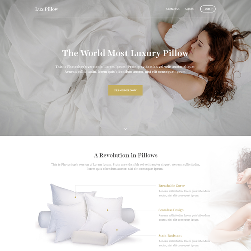 Lux Pillow - Website