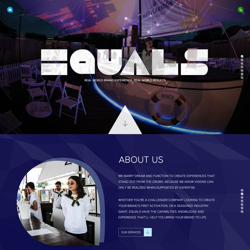Creative events agency needs a slick new website