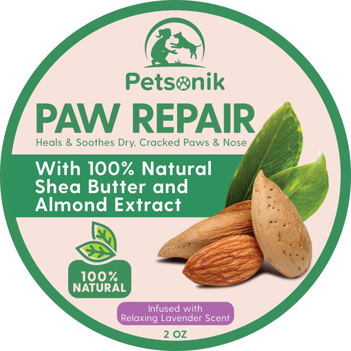 "packaging for ""paw repair"""