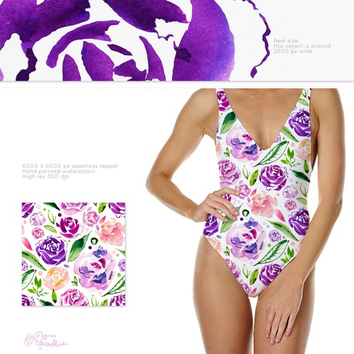 Floral Watercolour Pattern Design