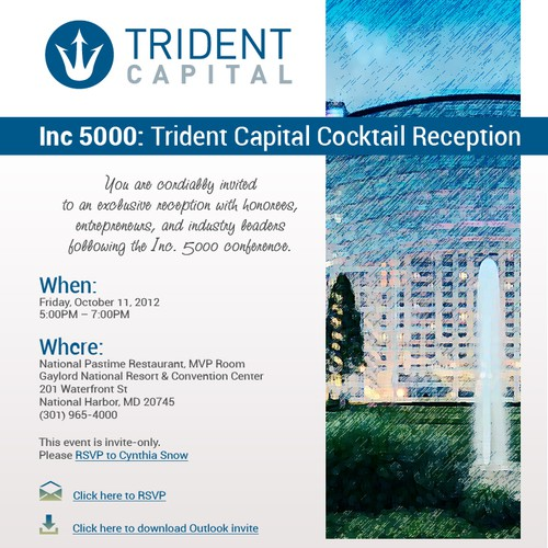New card or invitation wanted for Trident Capital