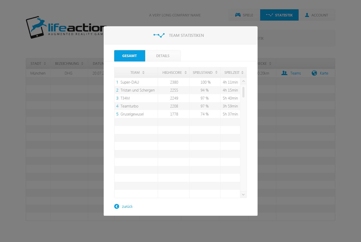 lifeaction games benötigt ein website or app design