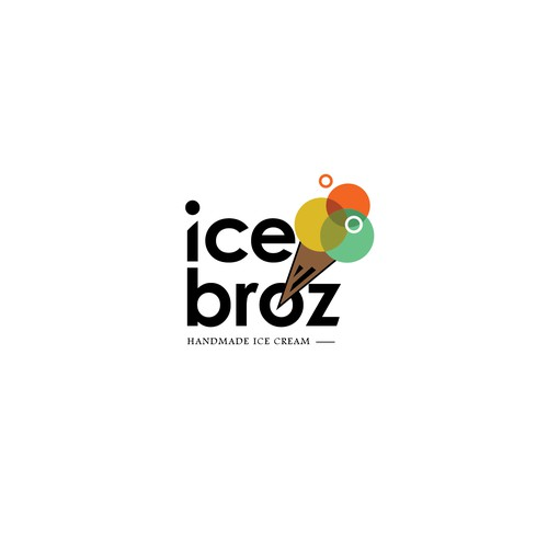 Bold logo design for ice broz