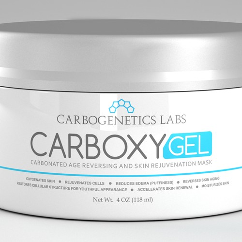 Cosmetic Label for First Carbonated Anti-Aging Face Mask