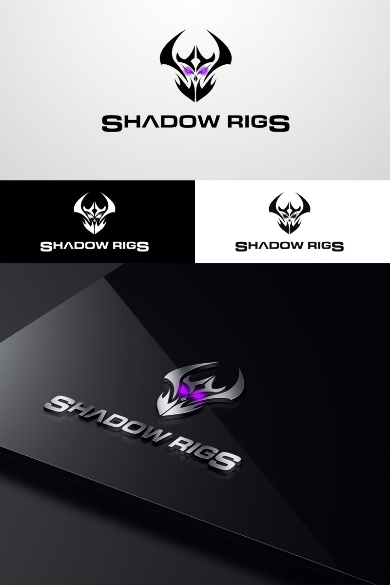 Looking for illustrator Shadow Rigs PC building logo.