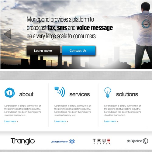 International Telecom Service provider needs a new website