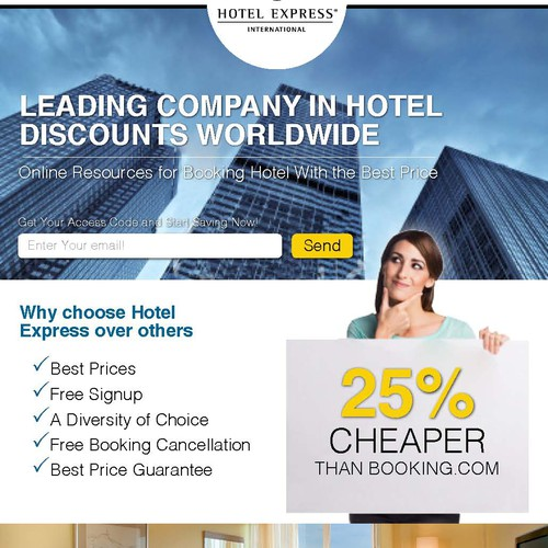 Landing page for Hotel Express