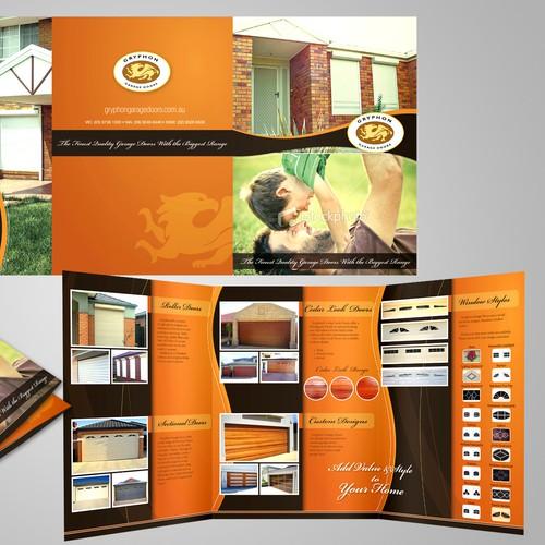 Brochure design for Gryphon Garage Doors