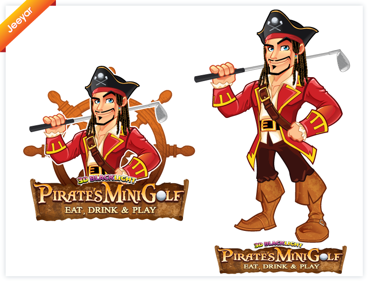 NEW LOGO for PIRATE'S MINIGOLF... EAT, DRINK & PLAY