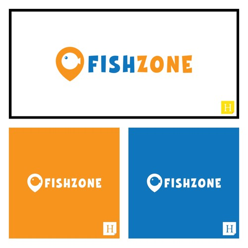 FISH ZONE - logo for fishing accessories eshop