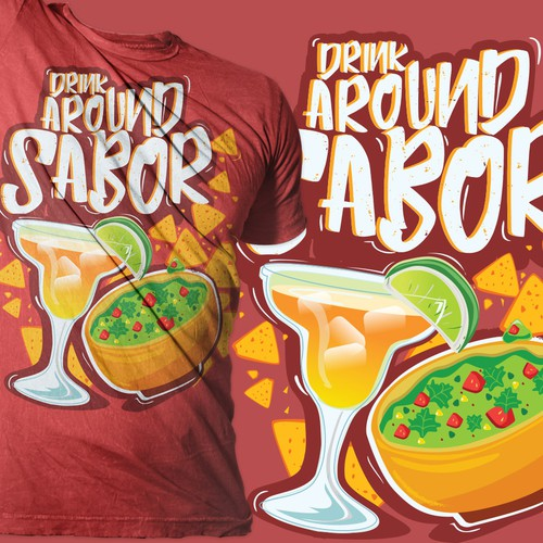 margarita with chips and salsa tees