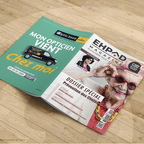 Magazine design EHPAD