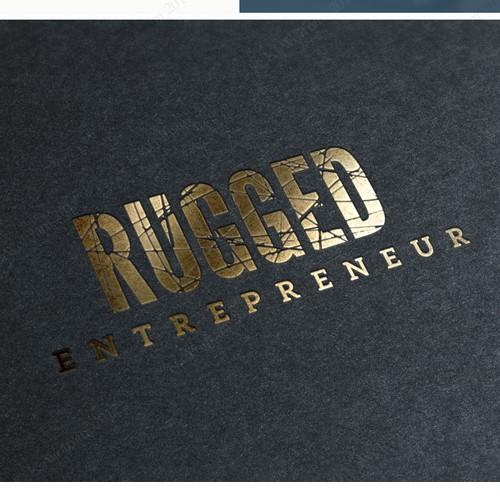 logo adressing rugged businessmen and women