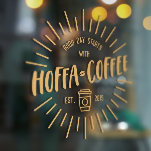 Logo Design For Hoffa Coffee