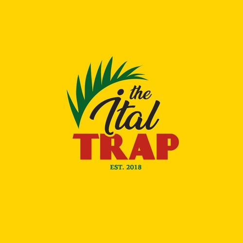 a Trendy logo for Caribbean Vegan Restaurant