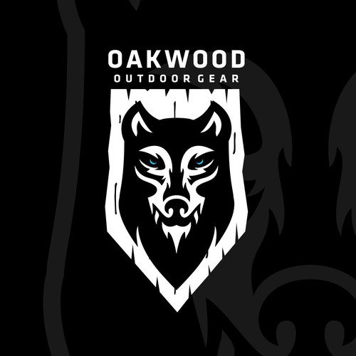 Oakwood Outdoor Gear - Wolf Logo Design