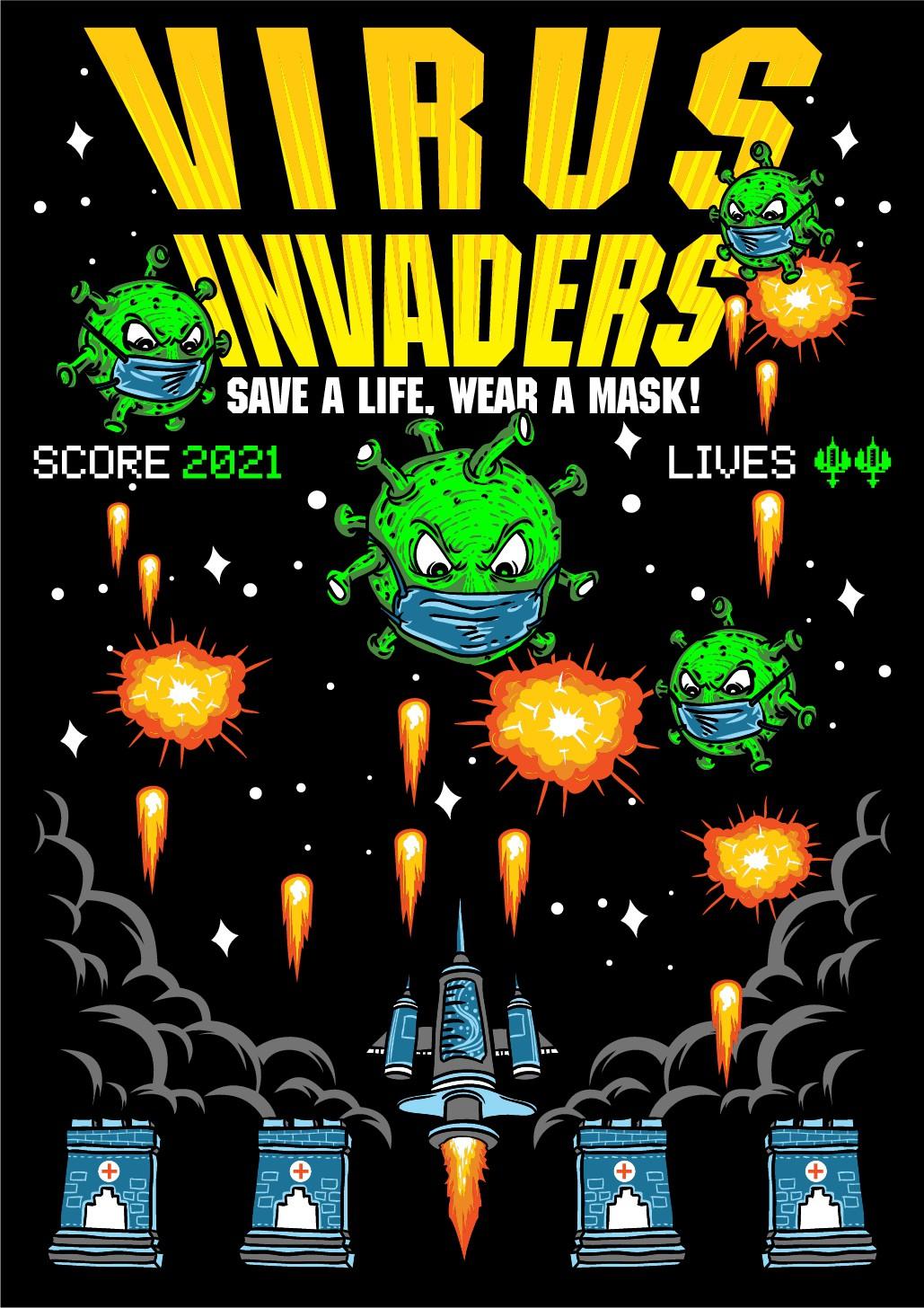 Video Game Aliens vs Covid-19