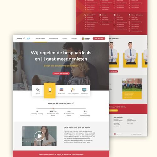 Landing Page design for jawel.ni