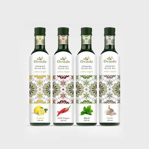 Oveido Olive Oil - Labels