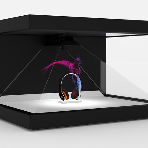 Holographic display with headphone