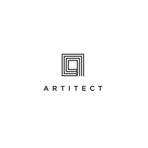 Logo design for Artitect, a  modern interior design and real estate firm.