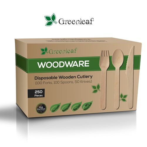 Package Design for Disposable Wooden Cutlery