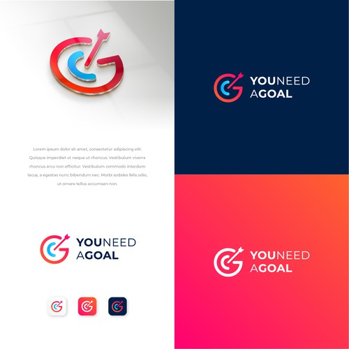 You Need a Goal starts with an eye catching logo