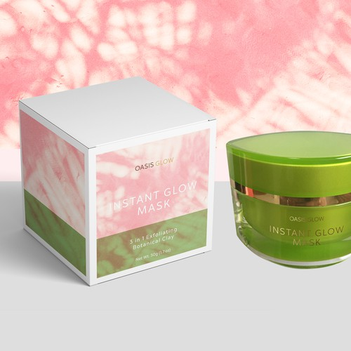 Product packaging for a skincare product