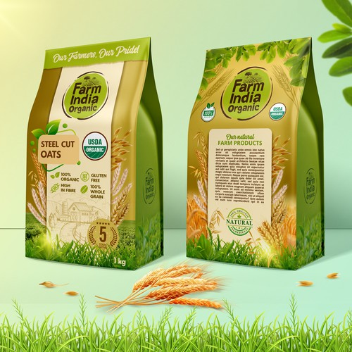 Pouch design for organic farm products