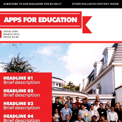APPS FOR EDUCATION needs you to help create a new  magazine design template