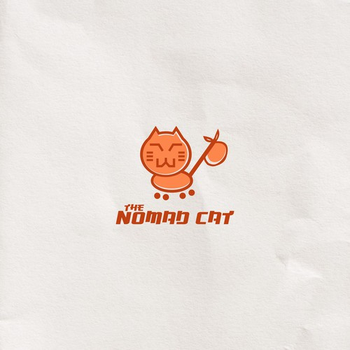 Cartoonistic High Tech logo for NOMAD CAT