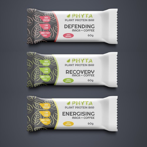 Phyta; a plant-based protein bar needs a dope, fresh packaging design