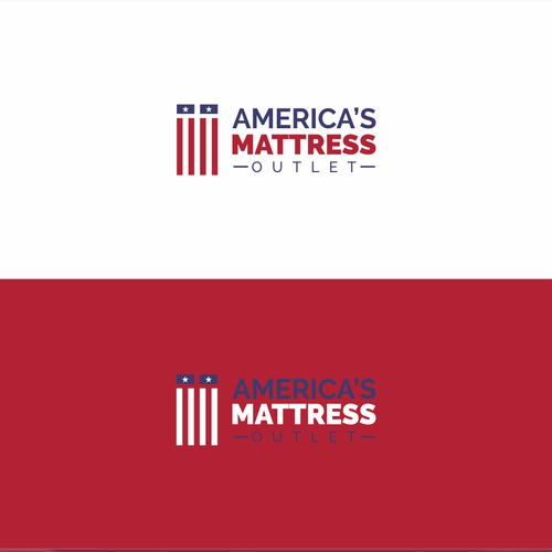 Logo design for mattress outlet in America
