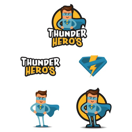 Thunder Hero's (draw it by my style)