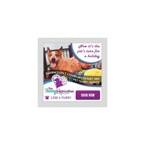 The Furry Godmother Pet Resort needs a magical new web ad!