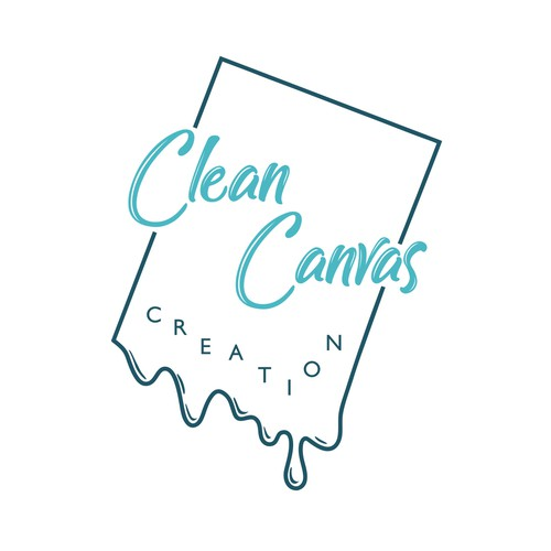 Another logo concept for Clean Canvas Creation