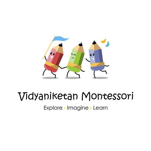 Design a creative and cute logo for a progressive Preschool